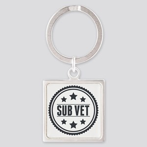 Sub Vet Badge Square Keychain