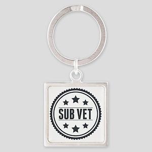 Sub Vet Badge Square Keychain