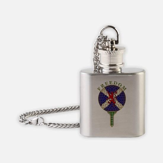 Freedom scottish golf ball saltire  Flask Necklace