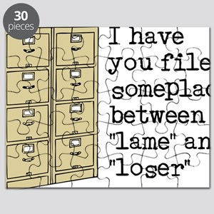 Filed Between Lame And Loser Funny T-Shirt Puzzle