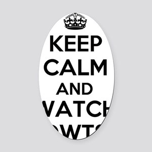 Keep Calm and Watch DWTS Oval Car Magnet