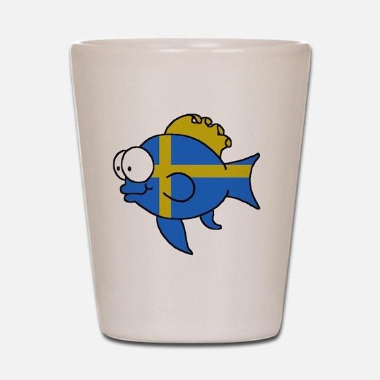 Swedish Fish Shot Glass