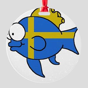 Swedish Fish Round Ornament