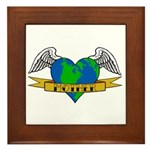 Love Your Mother Earth Day Tattoo Framed Tile