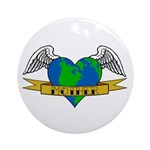 Love Your Mother Earth Day Tattoo Ornament (Round)