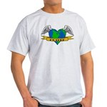 Earth Day Tattoo Style Light T-Shirt