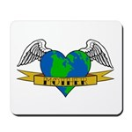 Love Your Mother Earth Day Tattoo Mousepad
