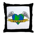 Earth Day Tattoo Style Throw Pillow