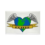 Love Your Mother Earth Day Tattoo Style Magnet