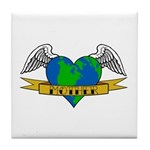 Love Your Mother Earth Day Tattoo Tile Coaster