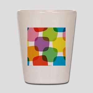 Colorful Retro Pattern Shot Glass