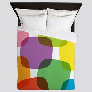 Colorful Retro Pattern Queen Duvet
