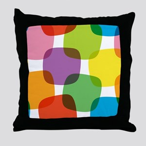 Colorful Retro Pattern Throw Pillow