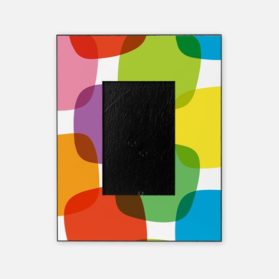 Colorful Retro Pattern Picture Frame
