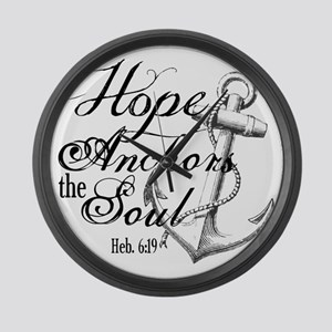 Hope Anchors the Soul Heb. 6:19 Large Wall Clock