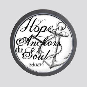 Hope Anchors the Soul Heb. 6:19 Wall Clock