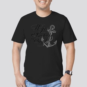 Hope Anchors the Soul  Men's Fitted T-Shirt (dark)