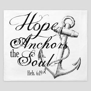 Hope Anchors the Soul Heb. 6:19 King Duvet