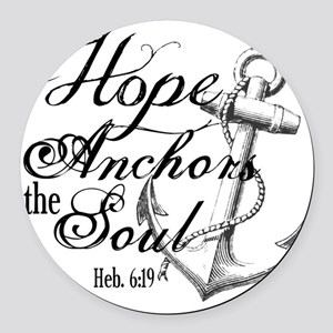 Hope Anchors the Soul Heb. 6:19 Round Car Magnet