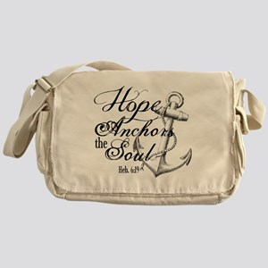 Hope Anchors the Soul Heb. 6:19 Messenger Bag