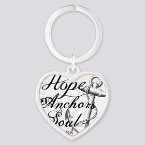 Hope Anchors the Soul Heb. 6:19 Heart Keychain