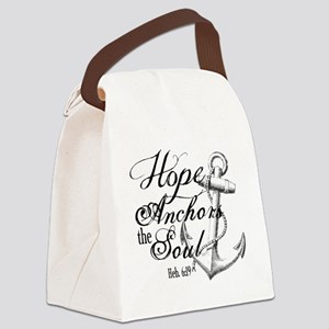 Hope Anchors the Soul Heb. 6:19 Canvas Lunch Bag