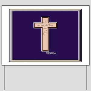 Psalm 136 26 Bible Verse Yard Sign