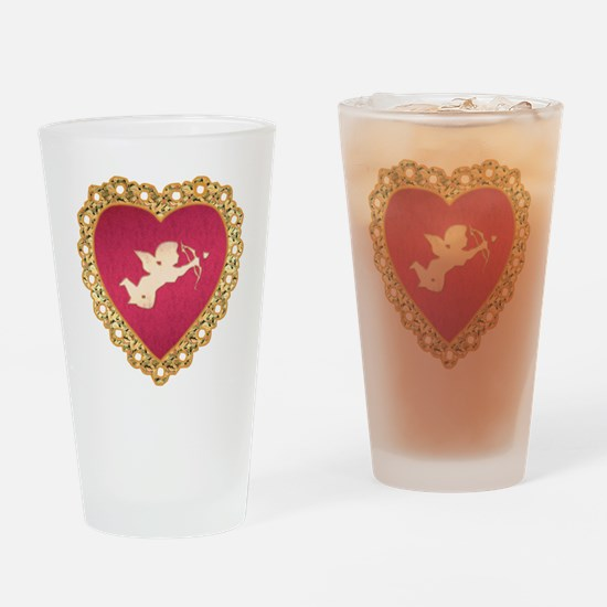Cupid Valentine Drinking Glass