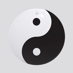 Yin Yang Clean Round Ornament