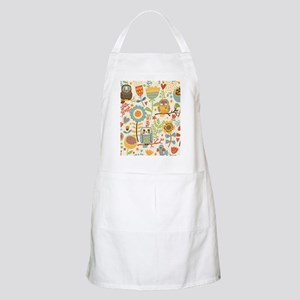 Flowers and Owls Apron