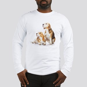 Two beagle dogs isolated on wh Long Sleeve T-Shirt