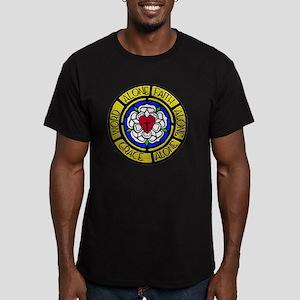 Grace-Faith-Word Wall Men's Fitted T-Shirt (dark)