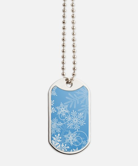 Winter Snowflakes Dog Tags