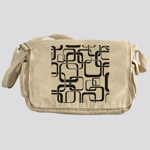 Black and White Retro Messenger Bag