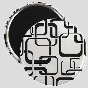 Black and White Retro Magnet
