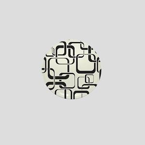 Black and White Retro Mini Button