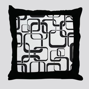 Black and White Retro Throw Pillow