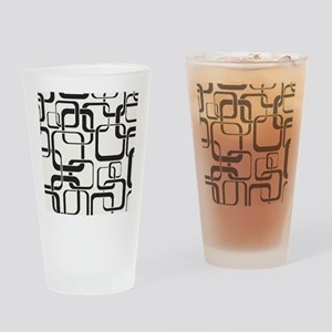 Black and White Retro Drinking Glass