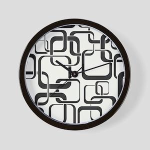 Black and White Retro Wall Clock