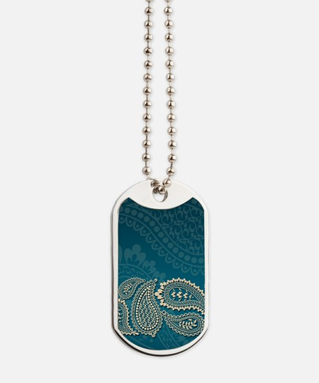 Paisley Border Dog Tags