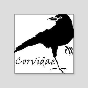 """Corvidae Square Sticker 3"""" x 3"""""""