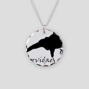 Corvidae Necklace Circle Charm