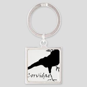 Corvidae Square Keychain