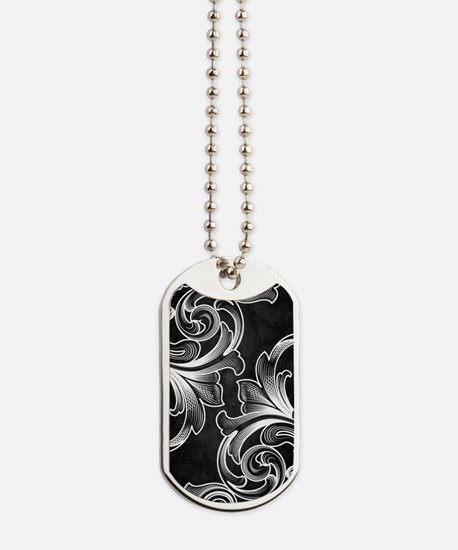 White/Black Victorian Dog Tags