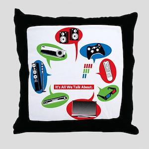 AVS Black Chat Throw Pillow