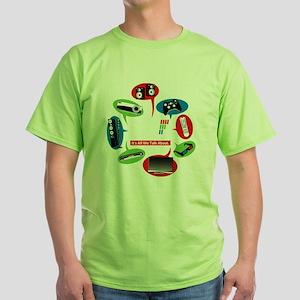 AVS Black Chat Green T-Shirt
