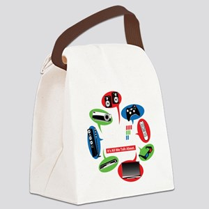 AVS Black Chat Canvas Lunch Bag