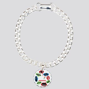AVS Black Chat Charm Bracelet, One Charm