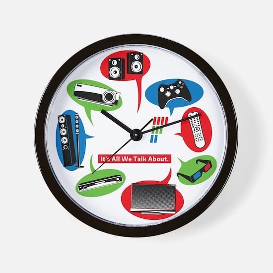 AVS Black Chat Wall Clock