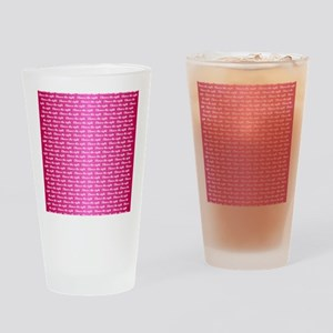 CTR - Dual Multi Pink Drinking Glass